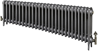 Eastgate Victoriana 3 Column 27 Section Cast Iron Radiator 450mm High x 1659mm Wide - Metallic Finish